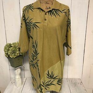 Tommy Bahama Polo Tropical Print Shirt Mens M
